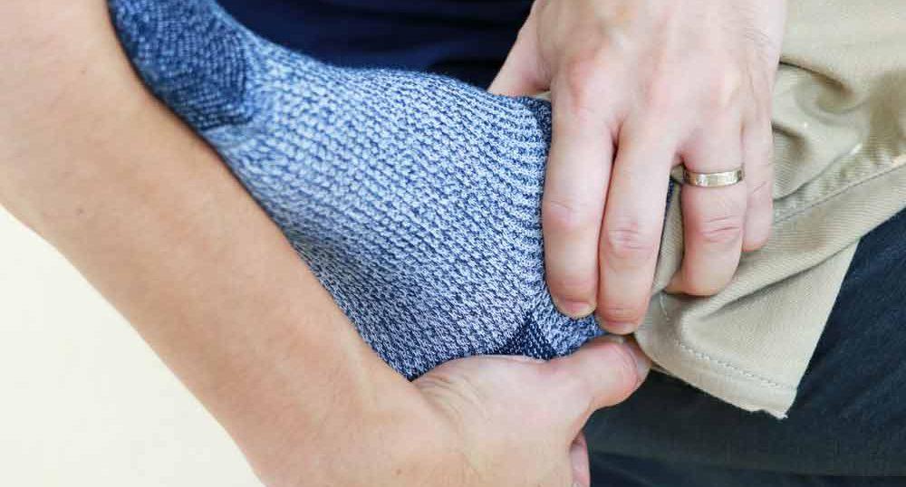 尖足予防のためのストレッチ