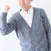 やる気で回復を目指す高齢者男性